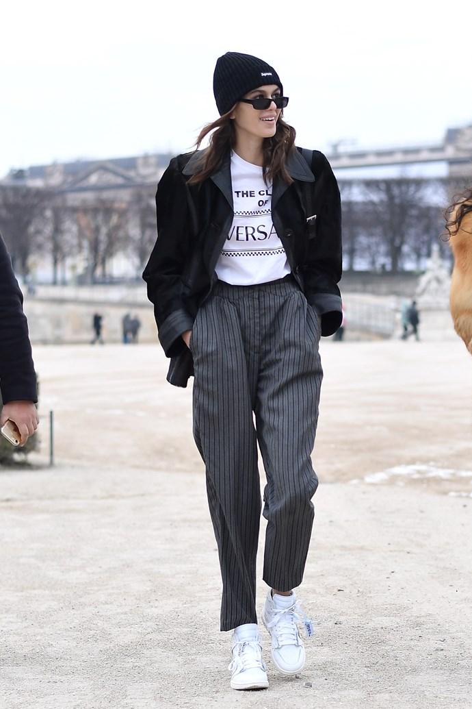 At Paris Fashion Week, 1 March 2018.