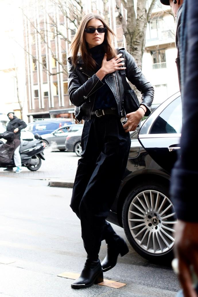 At Paris Fashion Week, March 2 2018.