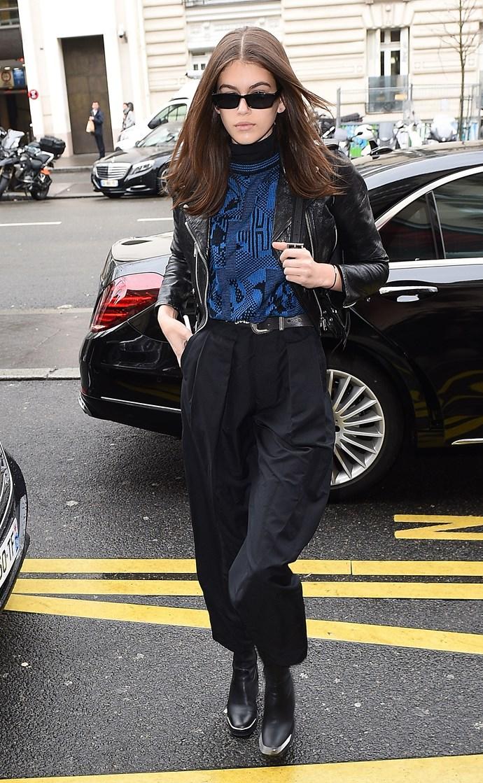 At Paris Fashion Week, 3 March 2018.