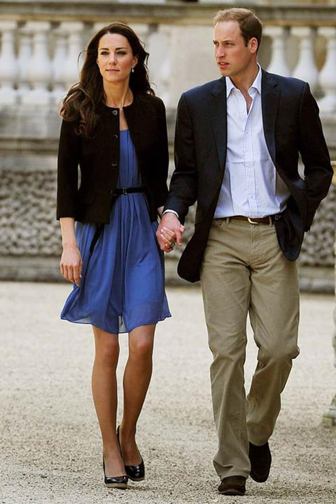 And, of course, who could forget the royal blue dress Kate first stepped out in all those years ago that sold out instantly?
