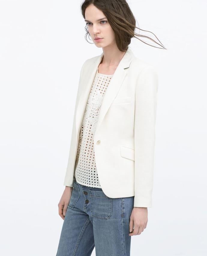 "No longer available. Shop similar, [$159](https://www.zara.com/au/en/tweed-blazer-p07190746.html?v1=5659705&v2=1010155|target=""_blank""|rel=""nofollow"") at Zara."