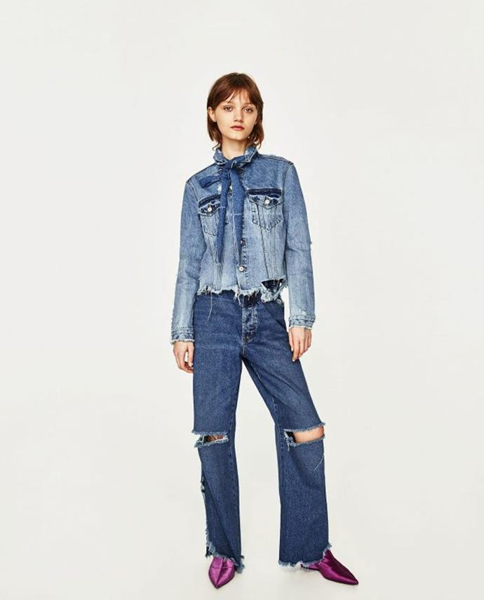 "No longer available. Shop similar, [$69.95](https://www.zara.com/au/en/basic-denim-jacket-p05252025.html?v1=5657738&v2=1009504|target=""_blank""|rel=""nofollow"") at Zara."