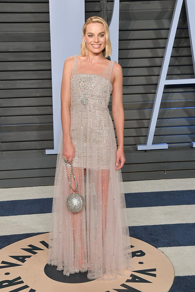Similarly, when Margot Robbie changed for the after-parties, she wore Chanel.