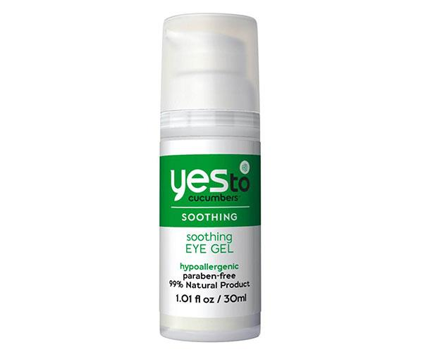 "This eye gel contains a triple threat of organic cucumber, aloe and spirulina to make a cooling, lightweight formula that reduces puffiness. <br><br> Yes To Cucumbers Soothing Eye Gel, $21, at [Beauty Bay](https://www.beautybay.com/skincare/yesto/cucumberssoothingeyegel/|target=""_blank"")."