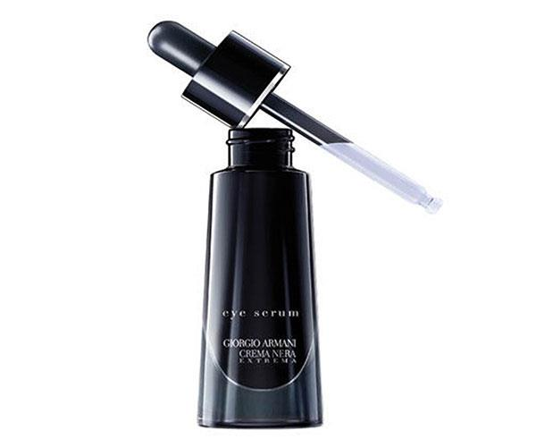 "A cleverly designed dropper means you'll always get the right amount of product, while the lightweight serum nourishes the eye area with Nopal flower extract. <br><br> Giorgio Armani Crema Nera Extrema Eye Serum, $175, at [Myer](https://www.myer.com.au/shop/mystore/769550?gclid=CjwKCAjw4sLVBRAlEiwASblR-5sA7ZRG4qPXKKSDhwkMhligB25m_oQfs854xg5opTp5xtaT-3mDHRoC9kEQAvD_BwE|target=""_blank"")."