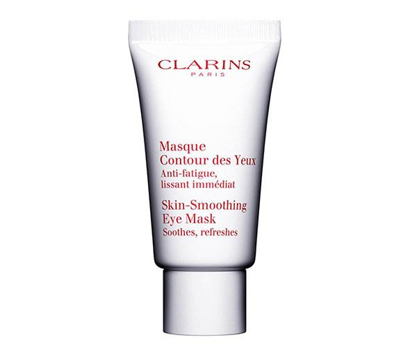 "Designed to be left on overnight, or applied throughout the day as needed, this mask is specific to the eye area. The fragrance-free cream immediately soothes skin and refreshes tired eyes, and works over time to smooth skin. <br><br> Clarins Skin-Smoothing Eye Mask, $65, at [David Jones](http://shop.davidjones.com.au/djs/en/davidjones/skin-smoothing-eye-mask-2793-36893--1|target=""_blank"")."