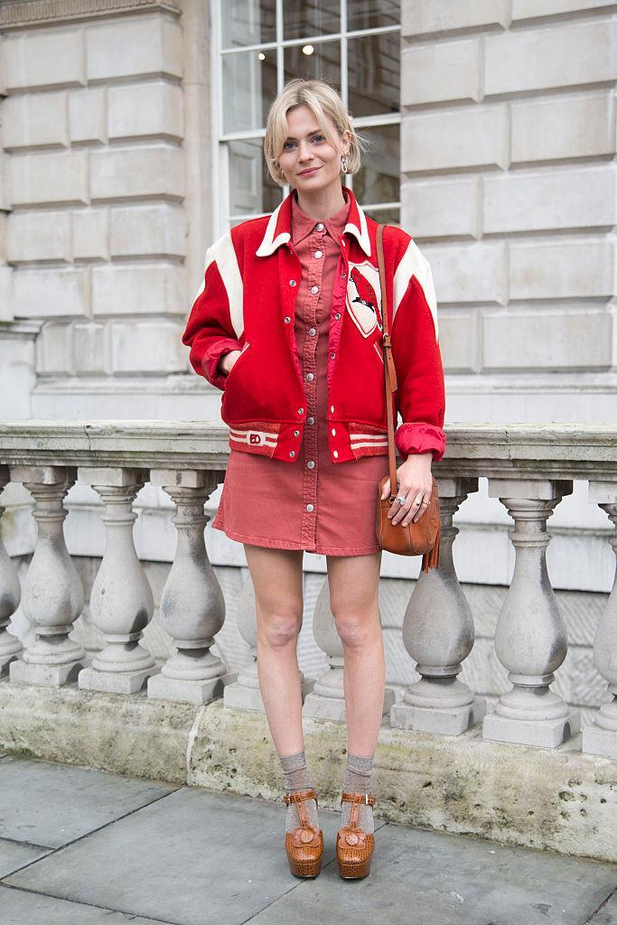 **Pandora Sykes** in a *Chanel* sport jacket.