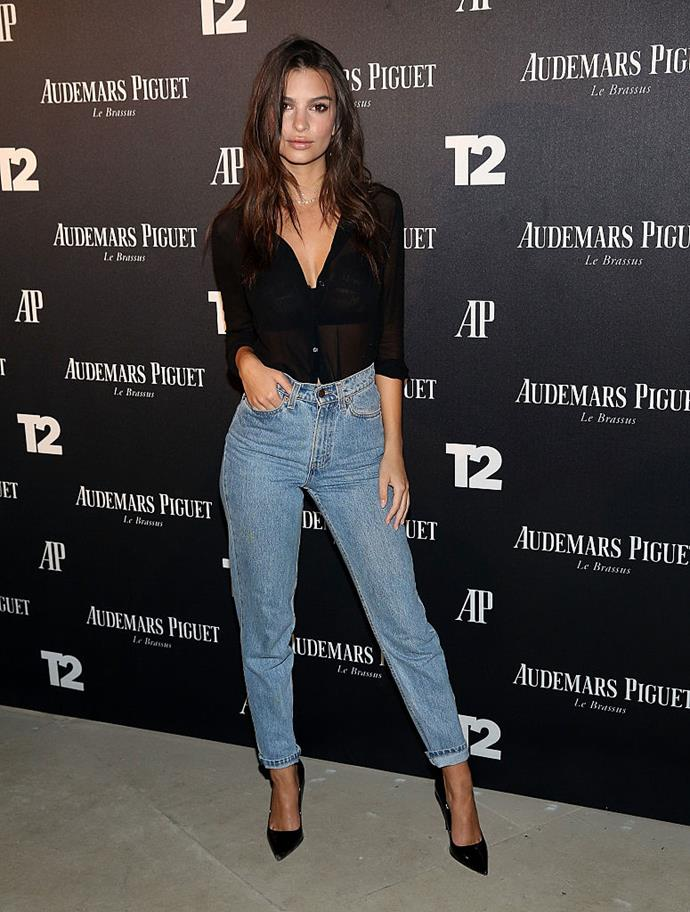 <p><strong>6. High-Waisted Vintage Denim</strong></p> <p> The skinny jean's time at the top of the denim food chain has officially come to an end, but honestly, it's not just denim. Swimwear, skirts, trousers and shorts have all been given the high-waisted treatment this year, and the look works well with the aforementioned crop top, revealing a nice flash of skin while keeping your navel nicely hidden.</p> <p>*Emily Ratajkowski*</p>