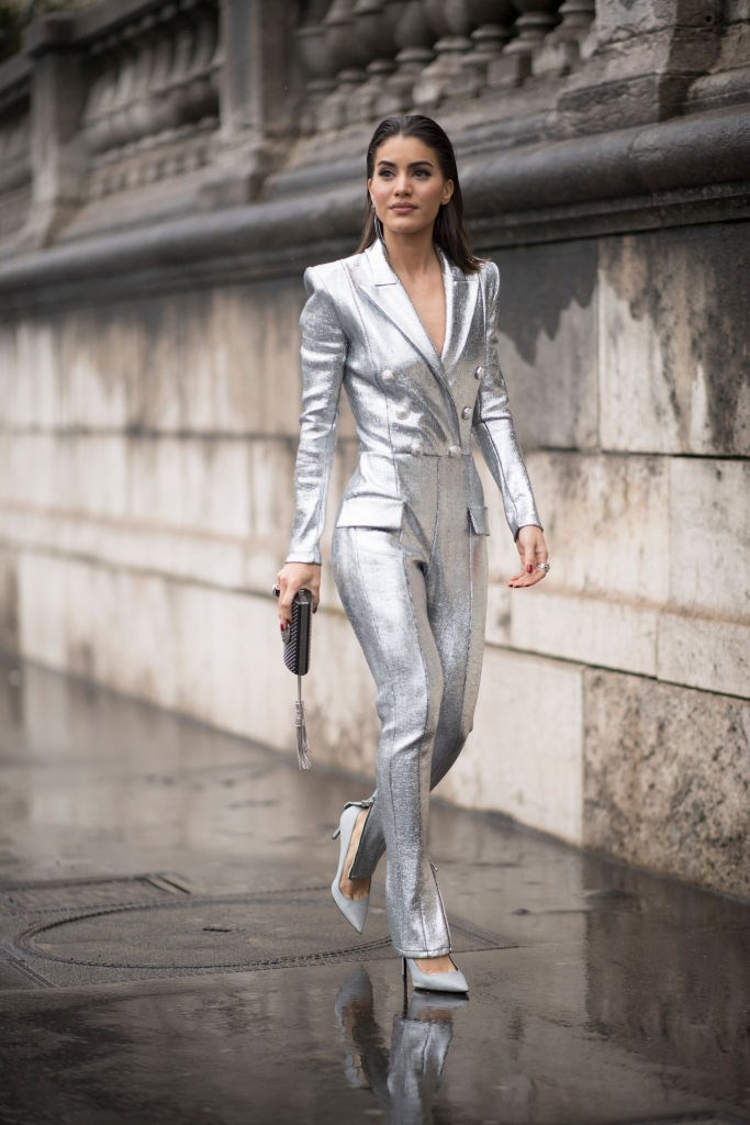 <p><strong>9. High shine fabrics</strong></p> <p>Put aside your sequins and make way for high-shine fabrics, courtesy of the '80s. Balmain, 3.1 Phillip Lim and Jonathan Saunders all set the shiny agenda, and we faithfully complied. The key is to stick with one statement item – a metallic jacket, molten gown or patent leggings – and then keep the rest of your outfit simple. Contrasting fabrics like wool or denim also look fab.</p> <p>*Camila Coelho*</p>