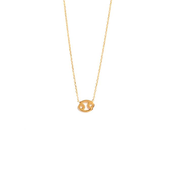 "Necklace, from $295 at [Sarah & Sebastian](https://www.sarahandsebastian.com/products/cancer-necklace|target=""_blank""