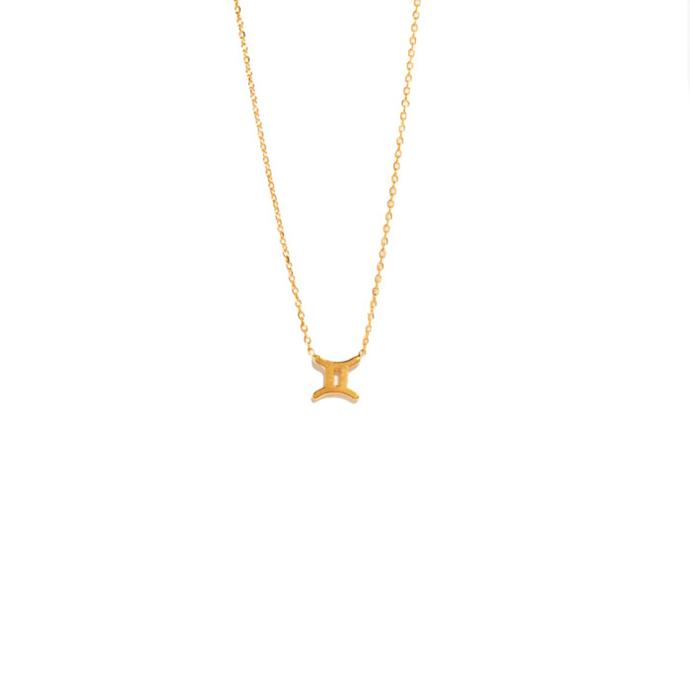 "Necklace, from $295 at [Sarah & Sebastian](https://www.sarahandsebastian.com/products/gemini-necklace|target=""_blank""