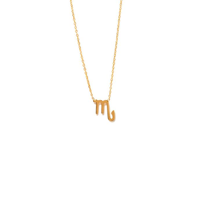 "Necklace, from $295 at [Sarah & Sebastian](https://www.sarahandsebastian.com/products/scorpio-necklace|target=""_blank""