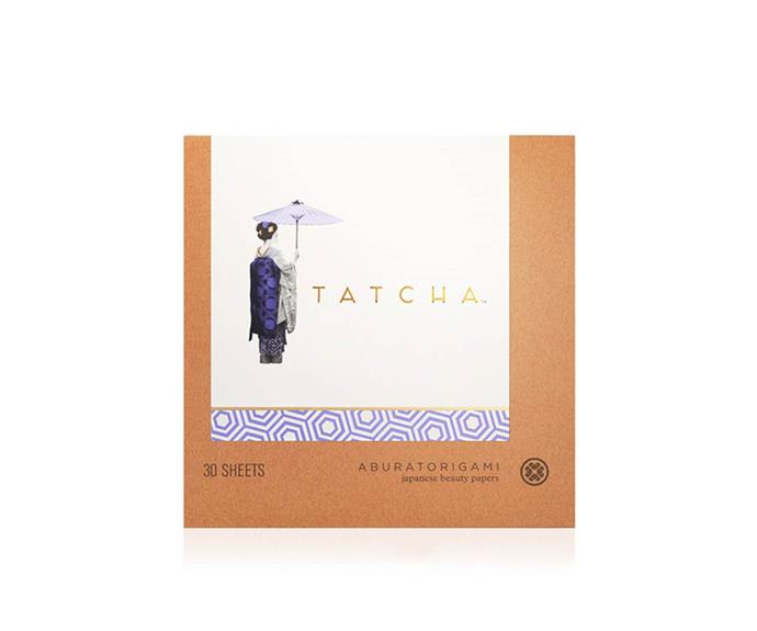 """<strong>The blotting papers</strong> <br> <br> FACT: Glowing skin is chic, oily skin isn't. Blot your way back to the good side of shine with <a href=""""http://mecca.com.au/tatcha/aburatorigami-blotting-papers/I-007896.html"""">these </a>chic sheets  or try <a href=""""https://www.priceline.com.au/models-prefer-blotting-paper-1-pack """">these </a>"""