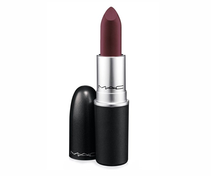 <strong>Dark-side kisses</strong><br> Think: Neve Campbell in <em>The Craft</em> (yes, we went there) or any picture from Drew Barrymore circa 1990-something and opt for a so-now dark lipstick. From deep burgundy to chocolate browns, dare pucker up to this trend. Just leave your lipliner at the door.<br> <em>Lipstick in Dark Side, $36, MAC, maccosmetics.com.au</em>