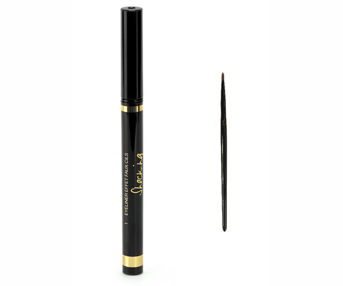 <strong>Smoky stare</strong><br> Lived-in makeup is all the rage. The trick is not to care. Draw it on and smudge it around for that Winona Ryder cool factor. <br> <em>Eyeliner Effet Faux Cils Bold Felt-Tip Eyeliner Pen, $59, Eye Definer Brush, $49, YSL, 1300 651 991</em>