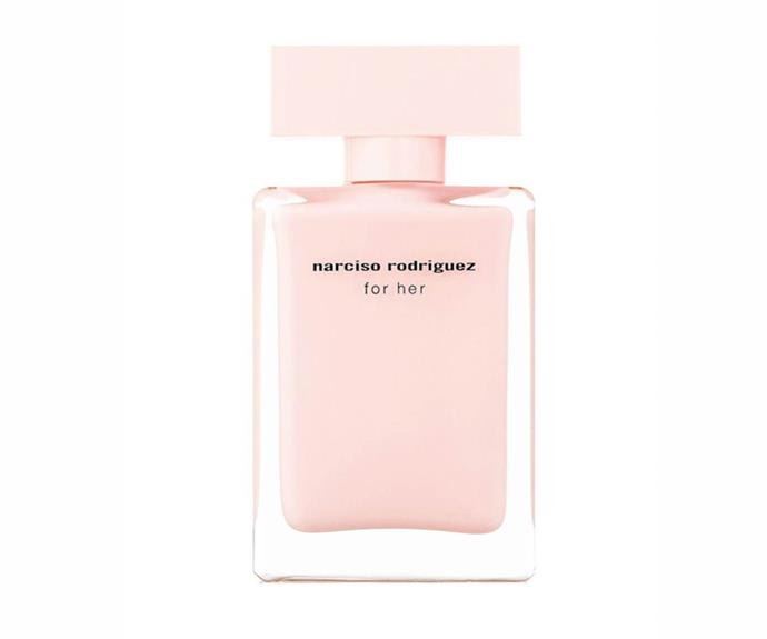 """I don't have a signature scent as I like to mix it up every few months, but this is a beautiful musky fragrance that always gets a compliment."" – Sarah Birnabuer, art director <br><br>  [For Her EDP, $89 for 50ml, Narciso Rodriguez](https://www.priceline.com.au/narciso-rodriguez-for-her-edp-50-ml