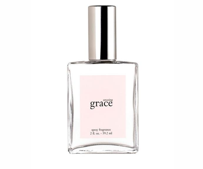 """I'm using Philosophy's Amazing Grace. It's got a clean, shower-fresh vibe about it that I love."" – Jennifer Kang, acting deputy chief sub-editor<br><br> <a href=""http://mecca.com.au/philosophy/amazing-grace-fragrance/V-001108.html"">Amazing Grace Fragrance, $65 for 60ml, Philosophy</a>"