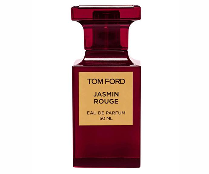 """I love scents that are unique—I don't want someone to be able to recognise what I'm wearing when I meet them. This one isn't too girly (just like me) and lasts on the skin the whole day."" – Carly Roberts, creative director<br><br> [Jasmin Rouge EDP, $340 for 50ml, Tom Ford](https://www.davidjones.com/jasmin-rouge-eau-de-parfum-50ml-20090602