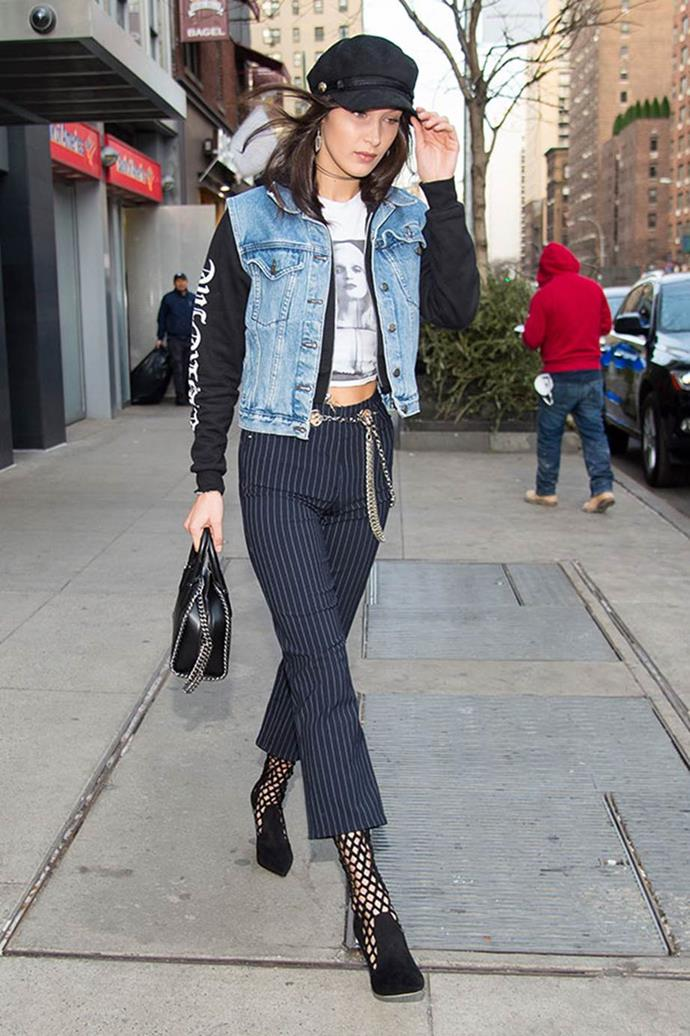 "**Miaou** <br><br> Their Signature Piece: [The Chain Detail Trouser](https://www.elle.com.au/fashion/celebrity-cult-fashion-buys-10728|target=""_blank"") <br><br> Bella Hadid"