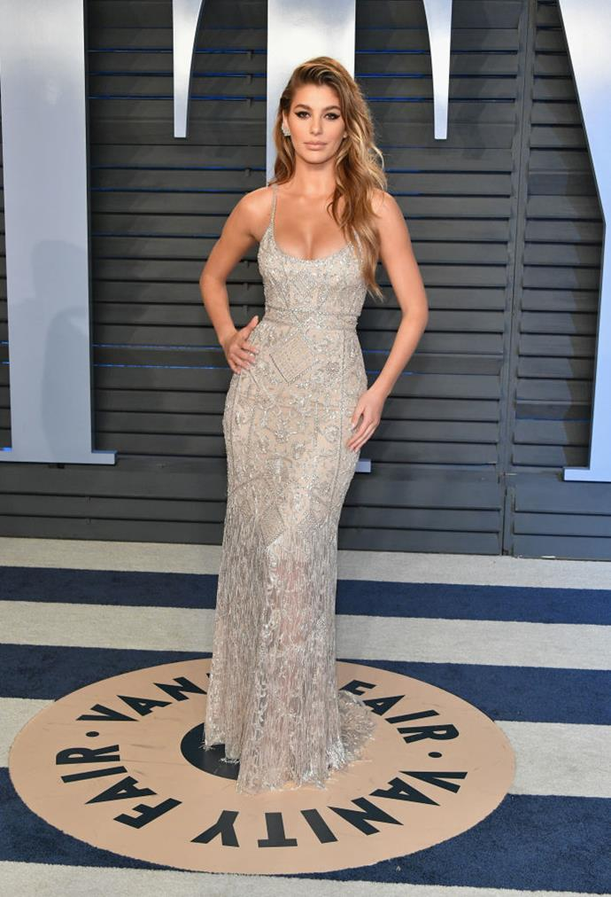 **Camila Morrone**  DiCaprio and Morrone were first spotted together in December of 2017 and seem to still be an item based on recent reports.