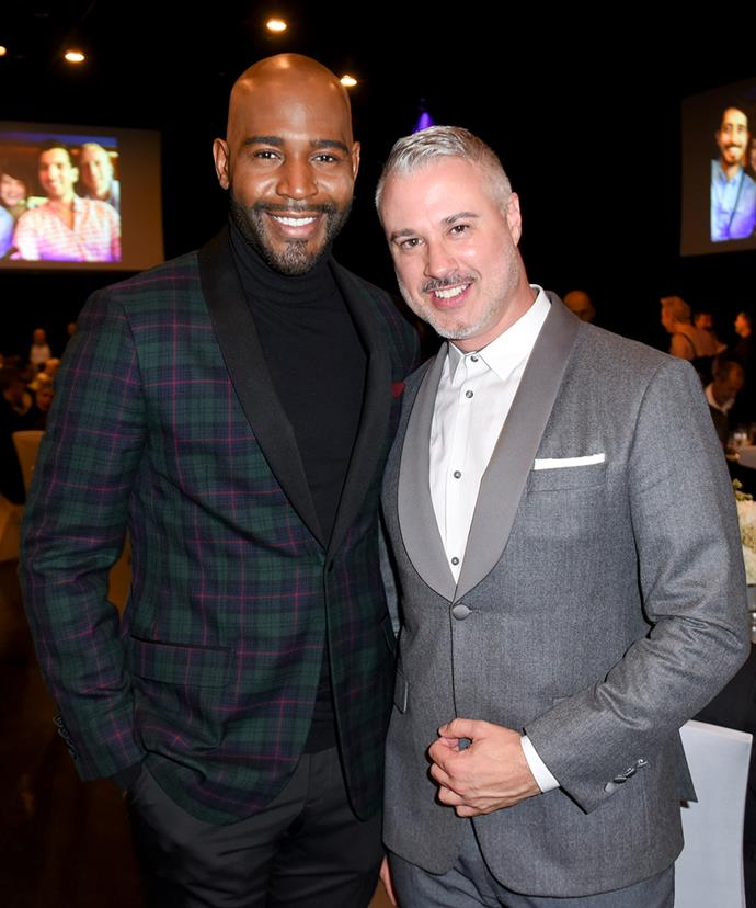 "**Karamo Brown**, *Queer Eye*'s culture guy, has two sons named Jason and Chris. As for a partner, Brown has been in a relationship with Ian Jordan, an assistant director, for almost eight years. He revealed this [on Instagram](https://www.instagram.com/p/BgMieNhFhl2/?taken-by=karamobrown|target=""_blank"") when they both attended the Human Rights Campaign gala in March. ""With my partner of 7 (almost 8) yrs at the @humanrightscampaign Gala. Over the years we've received so many racist comments from people who disapprove of us being in an interracial relationship. But ignorance will never win when love and kindness are leading the way. Wishing everyone the same happiness and joy that we have!"" he wrote."