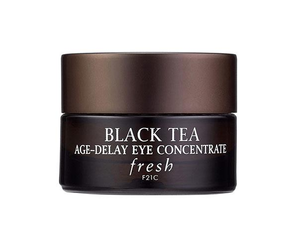 "The proprietary black tea complex in this cream diminishes visible signs of ageing, dark circles and puffiness, while moisturising and firming the eye area. <br><br> Fresh Black Tea Age-Delay Eye Concentrate, $68, at [Sephora](https://www.sephora.com/product/black-tea-age-delay-eye-concentrate-P384778|target=""_blank"")."