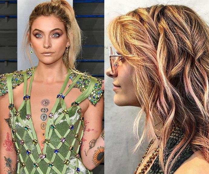 ***Paris Jackson***<br> Paris debuted a 'rose brown' colour, confirming its status as one of 2018's hottest colours. We'd say it's no coincidence that Coachella is just around the corner...
