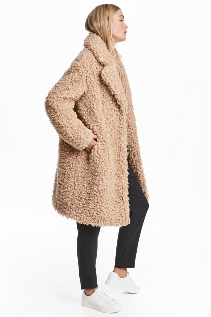 "Faux Fur Coat, $79.99 from [H&M](http://www.hm.com/us/product/80213|target=""_blank"")."
