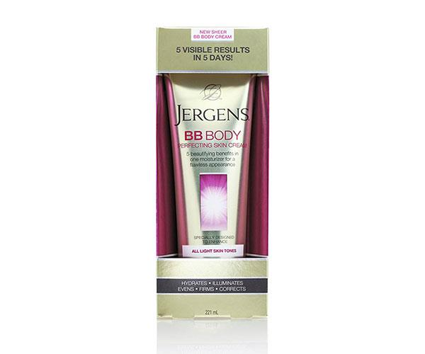 """Perfect for evening up the delicate skin around your chest and neck, it's BB and nourishing moisture in one. <br><br> Jergens BB Body Perfecting Skin Cream, $9, at [Priceline](https://www.priceline.com.au/jergens-bb-body-perfecting-skin-cream-medium-to-deep-221-ml