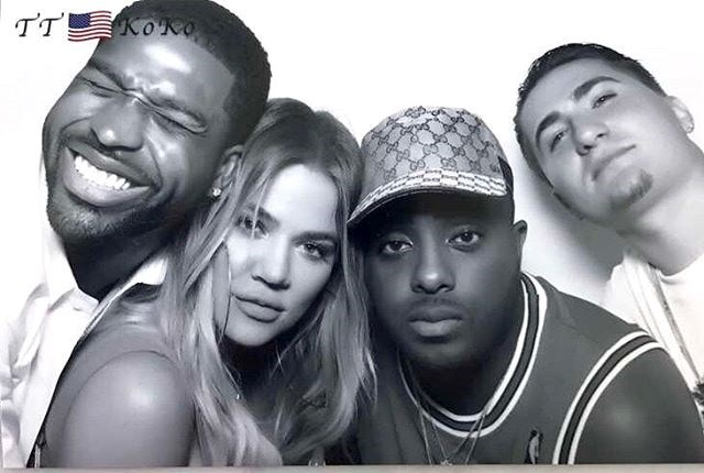 Khloé Kardashian and Tristan Thompson at their 4th of July party. (Sourced from Instagram.)