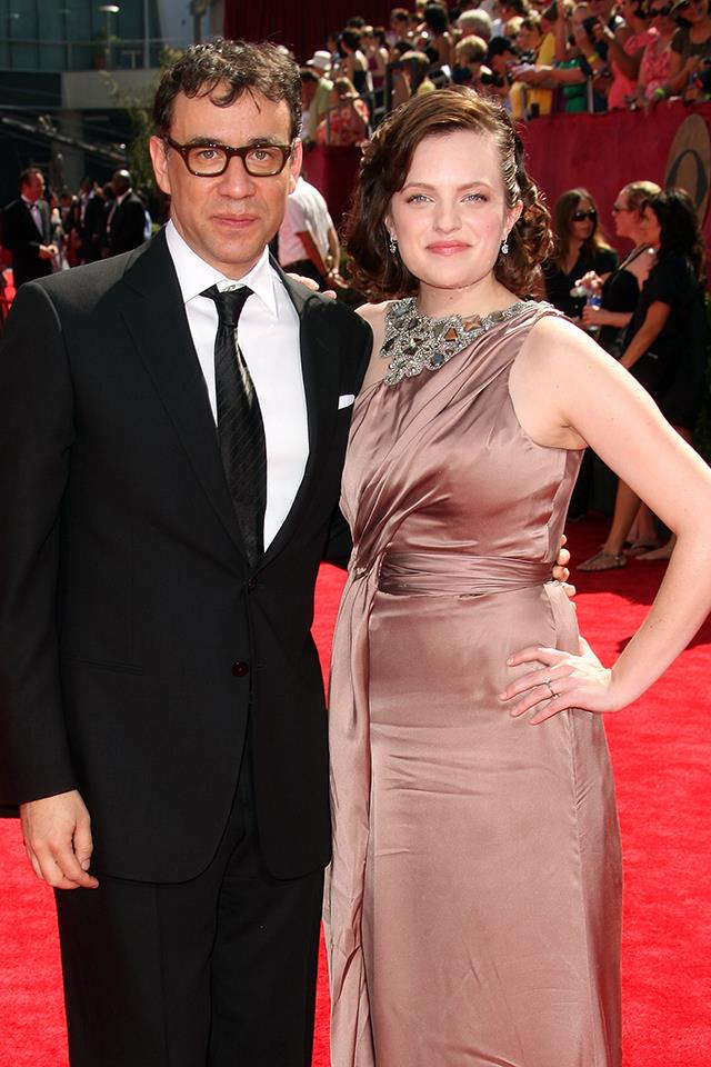 **Elisabeth Moss**, who stars as the show's titular handmaid, Offred, isn't linked to anyone at the moment, but she was married to actor and comedian Fred Armisen from 2009 to 2011. It's been reported that one of the reasons they split was because Moss was more [committed to her religion, Scientology](https://www.elle.com.au/celebrity/elisabeth-moss-scientology-16235), than her marriage.
