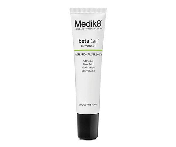 "Medik8 BetaGel Acne Treatment Gel, $80, at [Adore Beauty](https://www.adorebeauty.com.au/medik8/medik8-betagel-acne-treatment-gel.html|target=""_blank"")."