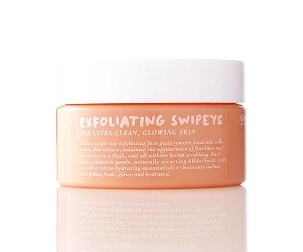 "**Entry-level acids** <br><br> If you're prone to congestion, or you live somewhere humid or you sometimes feel like your skincare isn't working, these idiot-poof chemical exfoliating wipes work wonders. Densely soaked in a gentle AHA blend, you can actually feel them working to remove dead skin cells, shrink pores and tighten the skin. They're also champions at curing ingrown hairs. <br><br> Exfoliating Swipeys, $46, at [Go-To Skincare](http://www.gotoskincare.com/products/face/exfoliating-swipeys|target=""_blank"")."