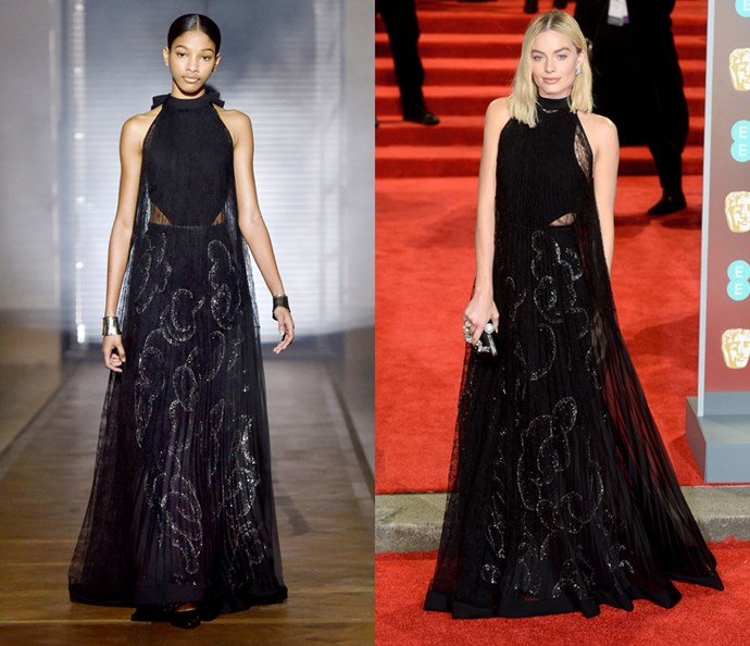 Wearing Givenchy Couture spring/summer '18 at the BAFTA Awards on February 18, 2018.