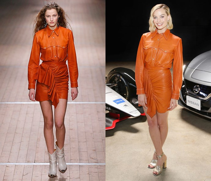 Wearing Isabel Marant autumn/winter '18 at the Formula E Launch Tour on April 16, 2018.