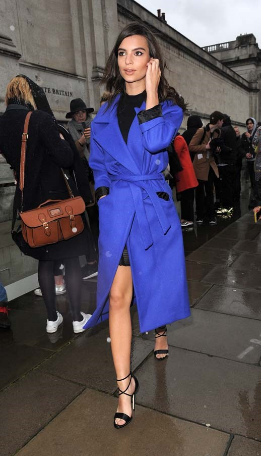At London Fashion Week, February 2015.