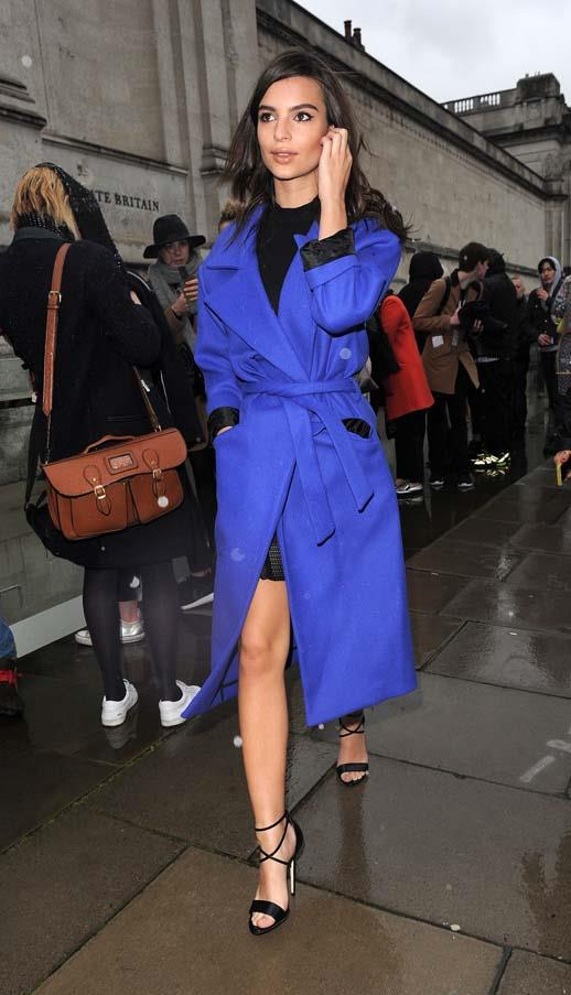 At London Fashion Week, February 2015.