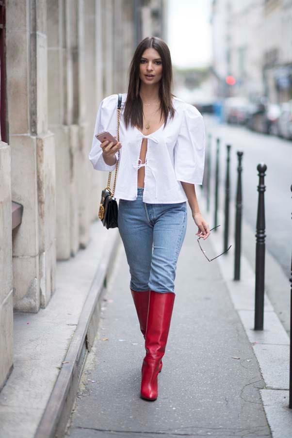 At Paris Fashion Week ready-to-wear, September 2017.