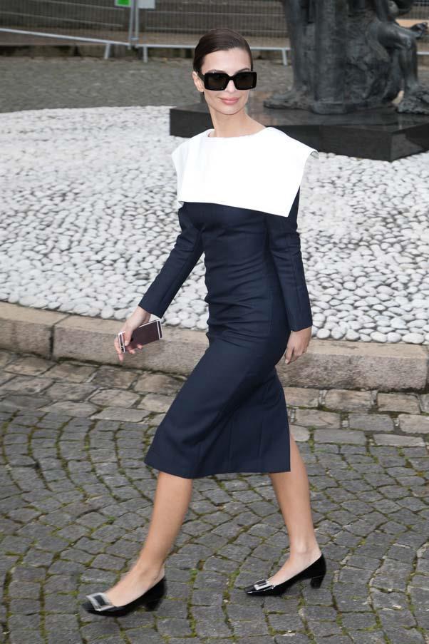 Outside at Miu Miu at Paris Fashion Week Haute Couture, March 2017.