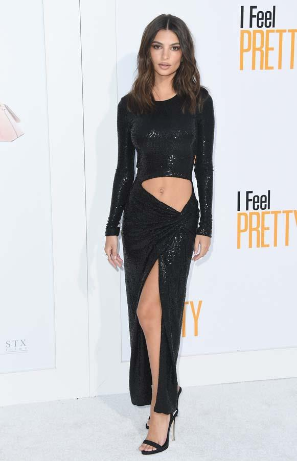 At the global premiere of *I Feel Pretty*, April 2018.