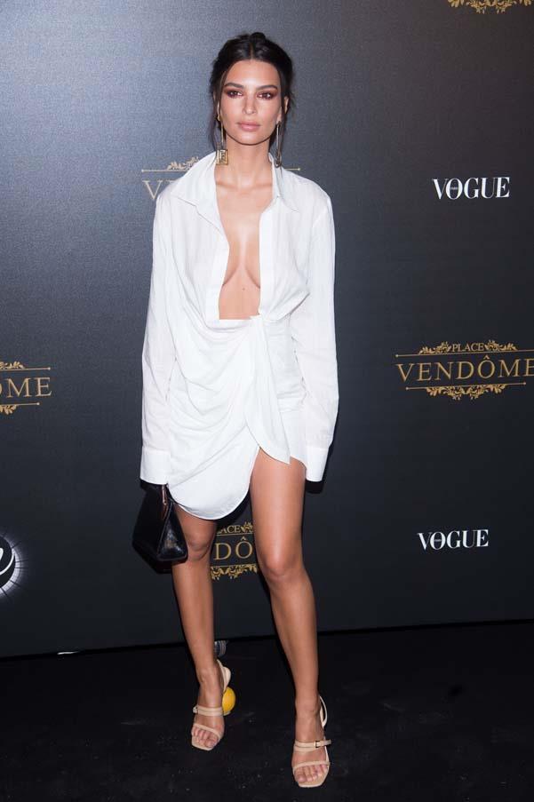 At a Vogue party at Paris Fashion Week, January 2018.