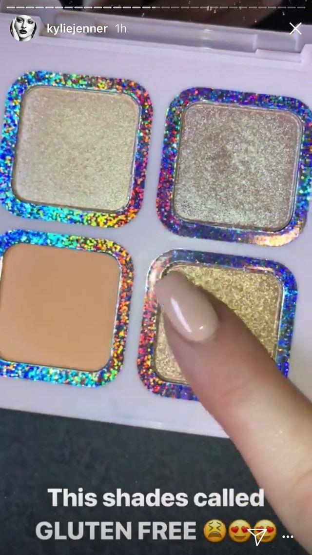 This palette features the shade 'Gluten Free', in honour of Kourtney's gluten free, dairy free, sugar free life.