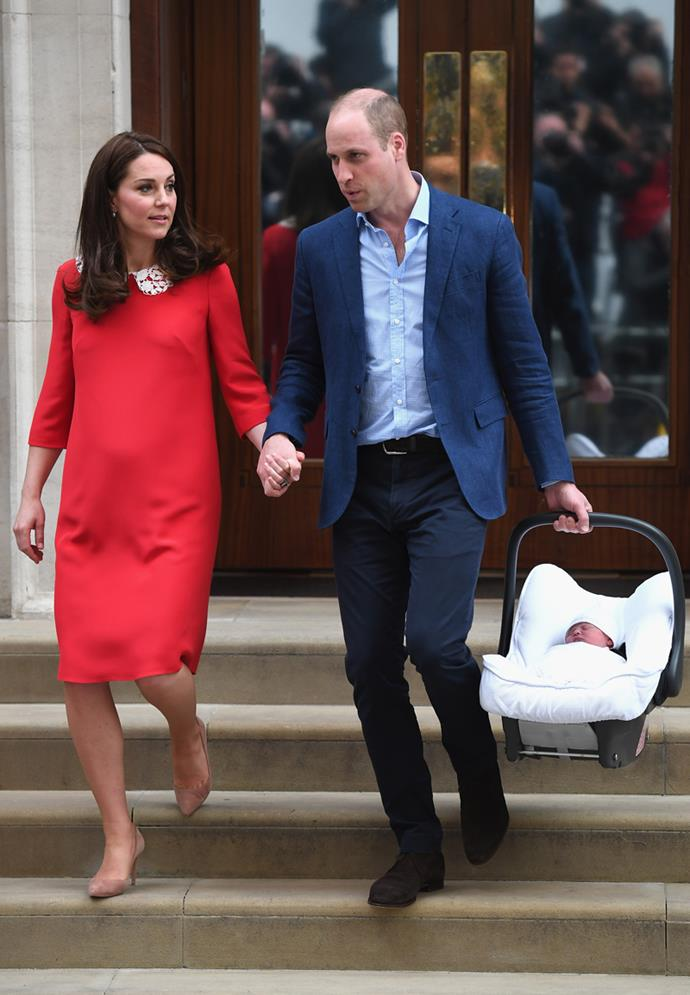 Prince William and Kate Middleton introduce their son to the world.