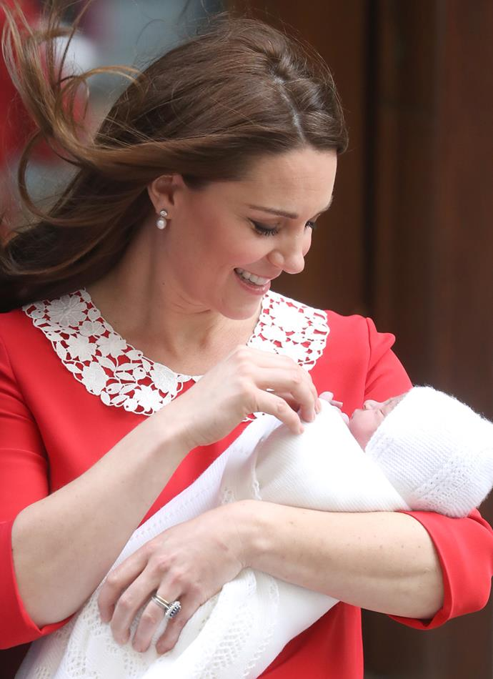Kate Middleton falling in love with her third child.