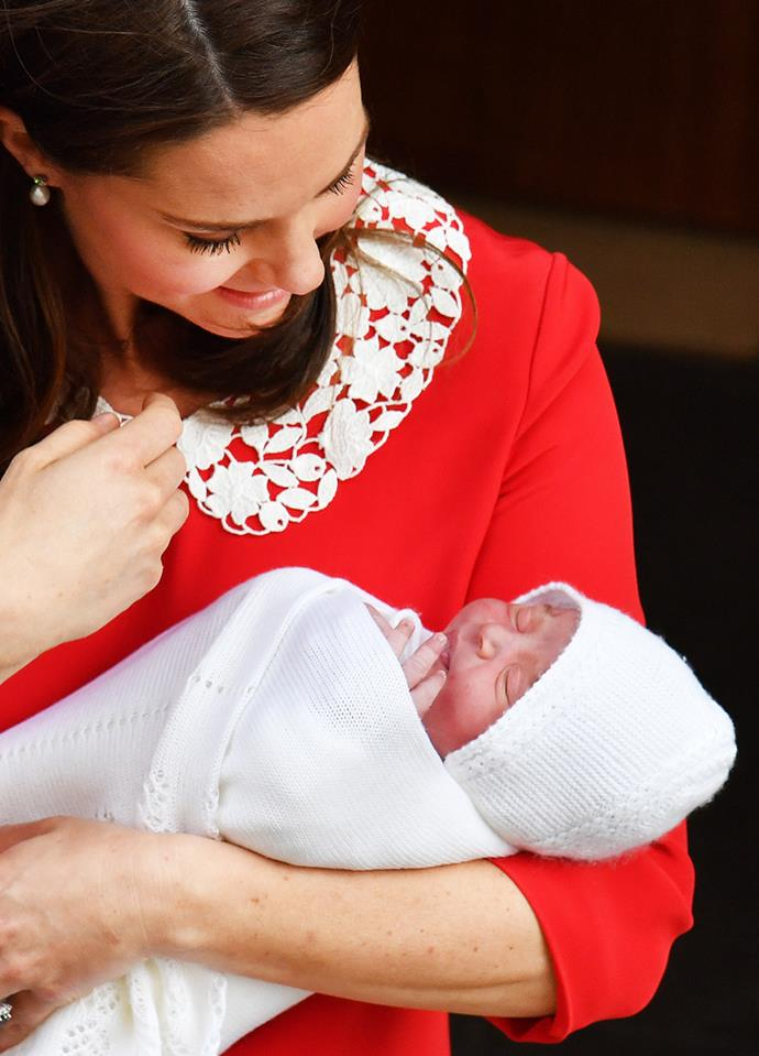 Kate Middleton and her royal baby.