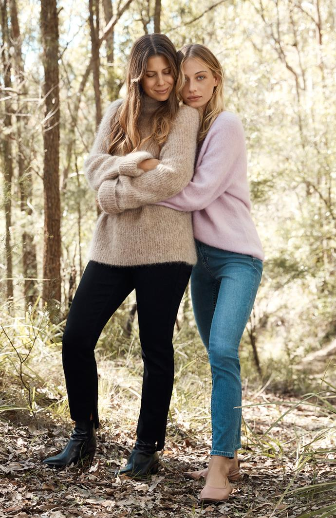 """Carla wears [mohair rib knit](https://www.countryroad.com.au/product/60223562