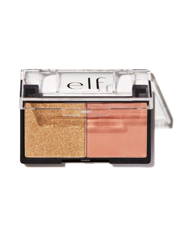 "e.l.f. Best Friend Eyeshadow Duo in Peach Squad, $9 at [E.L.F Cosmetics](https://www.elfcosmetics.com.au/products/best-friend-eyeshadow-duo?variant=39261121745#.Wuk-sVOFPBI|target=""_blank""|rel=""nofollow"")."