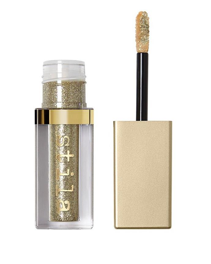 "Stila Magnificent Metals Liquid Eyeshadow in Gold Goddess, $35 at [Mecca](https://www.mecca.com.au/stila/magnificent-metals-glitter-glow-liquid-eye-shadow-gold-goddess/I-026660.html|target=""_blank""