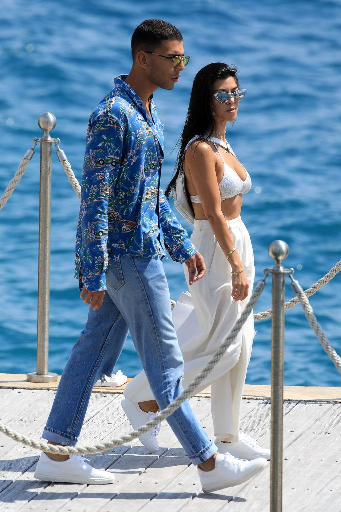 Kourtney Kardashian and Younes Bendjima in Cannes in May 2017.