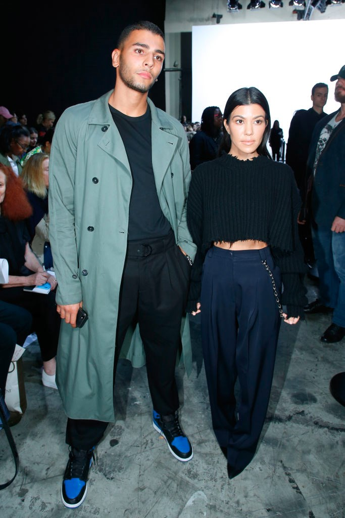 Kourtney and Younes at the Haider Ackermann show at Paris Fashion Week in September 2017.